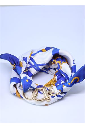 Blue silk scarf with golden hook  Grakko Fashion | -709280361 | CORDABLU
