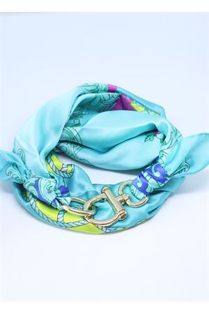Foulard in seta di Como turchese Grakko Fashion | -709280361 | CORDATURCHESE
