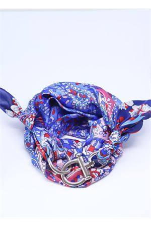 Flowered pattern Como silk scarf with hook Grakko Fashion | -709280361 | FIORIBLU