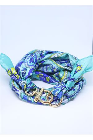 Light blue silk scarf with golden hook Grakko Fashion | -709280361 | FIORITURCHESE