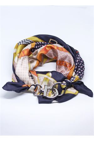 Adjustable pure silk scarf with chains Grakko Fashion | -709280361 | FOULARD CATENEARANCIONE