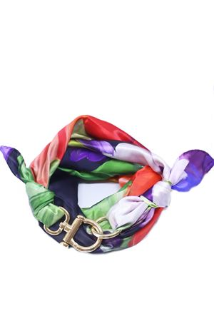 Foulard in seta di Como a fantasia con gancio decorativo Grakko Fashion | -709280361 | FOULARDVARANCIO