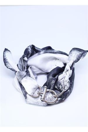 Grey Como silk scarf  Grakko Fashion | -709280361 | FOULARDVGRIGIO