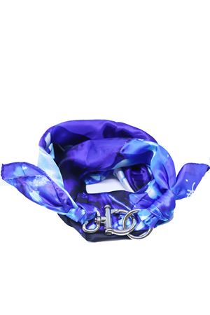 Pure silk blue scarf with hook  Grakko Fashion | -709280361 | FOULARDVMULTIBLU