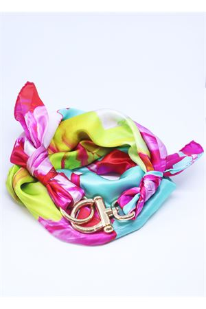 Multicolor silk scarf with hook closure  Grakko Fashion | -709280361 | FOULARDVMULTIGREEN