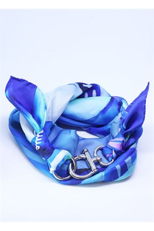 Multi blue color silk scarf  Grakko Fashion | -709280361 | FOULARDVMULTILIGHTBLUE