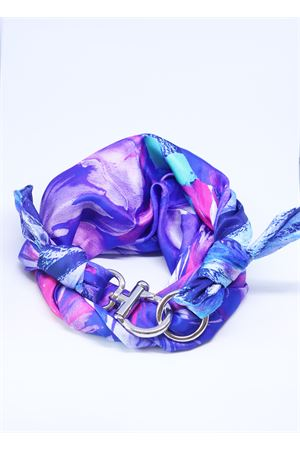 Violet and blue multicolor silk scarf  Grakko Fashion | -709280361 | FOULARDVMULTIVIOLA