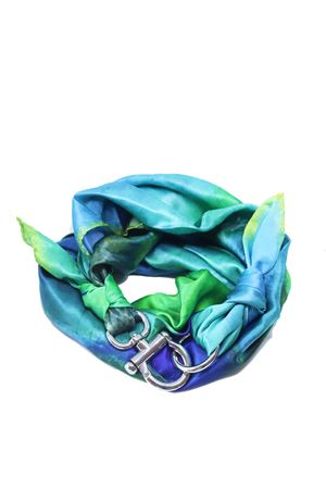 Silk scarf with silver hook closure  Grakko Fashion | -709280361 | FOULARDVVERDE