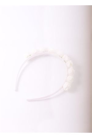 White Ceremonial headband with roses Il Filo di Arianna | 20000050 | CERCHIETTOFIORIBIANCO