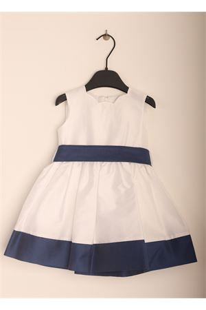 Elegant white and blue dress for baby girl  Jo Milano | 5032262 | JO376BLUBIANCO