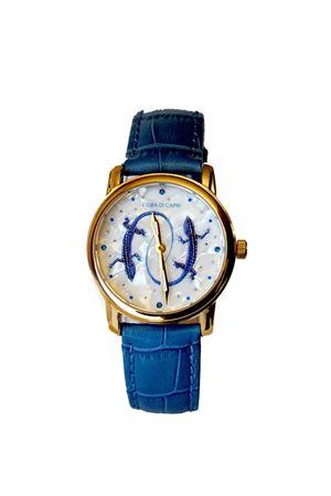 Orologio di Capri con Lucertole azzurro L