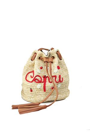 Straw Backpack for baby girl La Bottega delle Idee | 31 | BORSA ZAINOROSSO