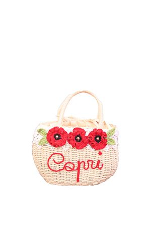 Straw bag with red flowers  La Bottega delle Idee | 31 | BORSAFIORIROSSO