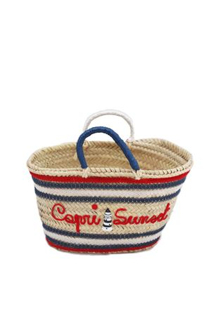 Capri sunset straw bag for woman  La Bottega delle Idee | 31 | FAROBAGMROSSO