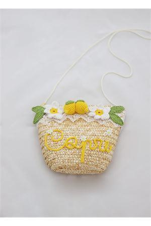 Tracolla in paglia con limoni La Bottega delle Idee | 31 | LEMONBAGBGIALLO