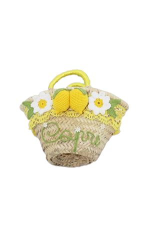 Straw basket bag with lemon for baby girl  La Bottega delle Idee | 31 | LEMONBASKETBGIALLO