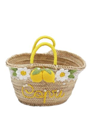 Straw basket bag with capri lemons La Bottega delle Idee | 31 | LEMONBASKETMGIALLO
