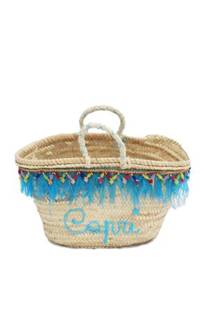 Capri straw bag with plumage decoration La Bottega delle Idee | 31 | MARABU