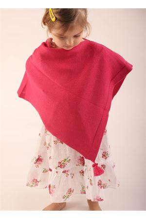 Poncho mantella in lana fucsia da bambina La Bottega delle Idee | 52 | PBWOOLBFUCSIA