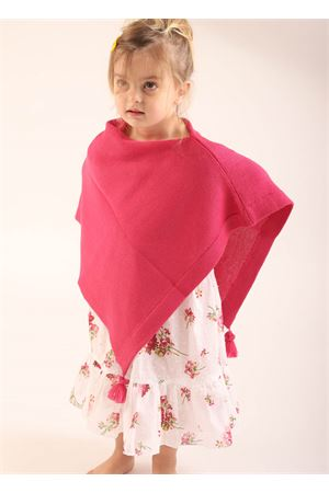 Fuchsia wool cape for girl 10 -14 years La Bottega delle Idee | 52 | PBWOOLRFUCSIA