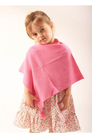 Poncho cape for girl from 10 to 14 years  La Bottega delle Idee | 52 | PBWOOLRROSA