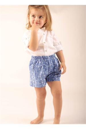Short da bambina in cotone a fiori bianchi La Bottega delle Idee | 30 | SHORTBIMBAFIORI