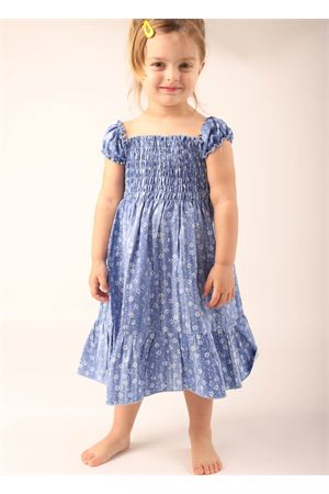 Dress with gathering on the bust for baby girl  La Bottega delle Idee | 5032262 | VESTITOCAPRIFIORI