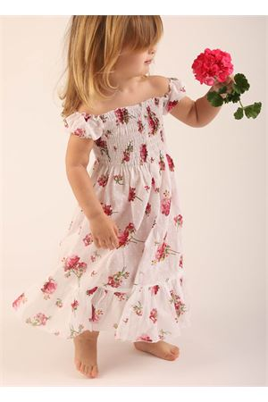 Dress for baby girl in cotton with flowers  La Bottega delle Idee | 5032262 | VESTITOCAPRIFIORIROSA