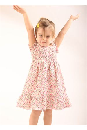 Dress for baby girl with flowers  La Bottega delle Idee | 5032262 | VESTITOCAPRIFUCSIA