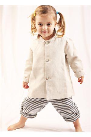 Giacca da bambina in cotone beige La Bottega di giorgia | 3 | BDG13BEIGE