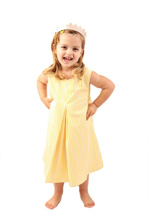 Yellow and white stripes dress for girl La Bottega di giorgia | 5032262 | BDG14RIGAGIALLO