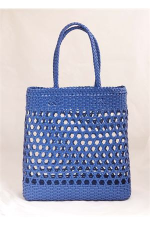 Shoulder bag in blue woven leather Laboratorio Capri | 31 | 082COBALTBLUE