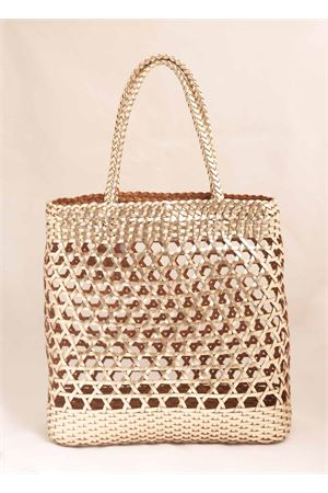 Platinum woven leather bag Laboratorio Capri | 31 | 082PLATINO