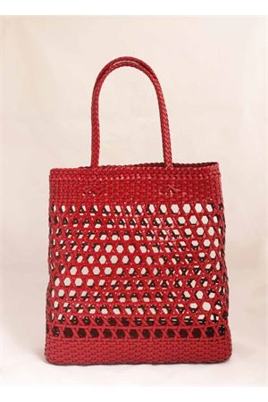 Borsa in pelle intrecciata rossa Laboratorio Capri | 31 | 082RED
