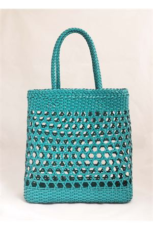 Green woven leather bag Laboratorio Capri | 31 | 082VERDETURCHESE
