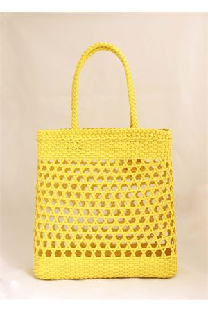 Yellow woven shoulder bag Laboratorio Capri | 31 | 082YELLOW