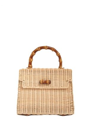 Mini handbag with bamboo handle  Laboratorio Capri | 31 | 110NATURALE