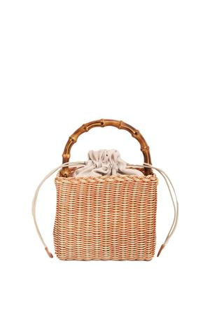 Wicker basket with bamboo handle Laboratorio Capri | 31 | 174BISCOTTO