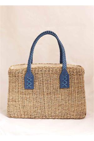 Straw bag wih cobalt blue handles Laboratorio Capri | 31 | 234CORDACOBALTBLUE