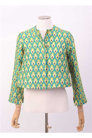 Green flared short jacket  Laboratorio Capri | 3 | ANEMONEVERDE