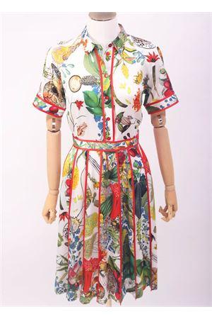 Vestito in seta longuette fantasia fiori Laboratorio Capri | 5032262 | CALLEAUTOCTONE