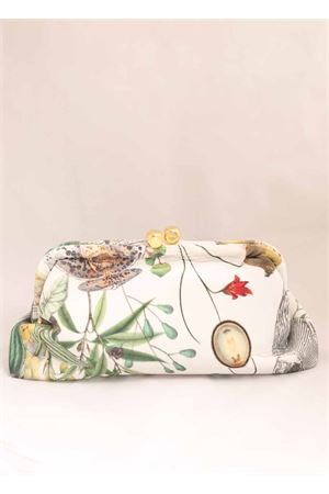 Flower pattern velvet bag  Laboratorio Capri | 31 | DADOGOLDMULTICOLOR