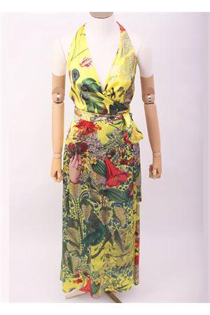 Vestito lungo incrociato in seta a fiori Laboratorio Capri | 5032262 | FIORDALISOAUTOCTONE