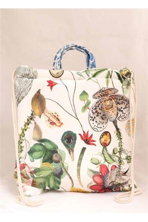 Borsa zaino in velluto fantasia fiori Laboratorio Capri | 31 | FORTE19MULTICOLOR
