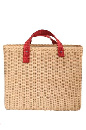 Rattan and crocodile handlde bag  Laboratorio Capri | 31 | FRANCIROSSO