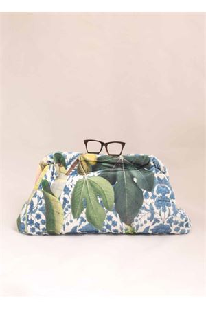 Clutch in velluto fantasia fiori Laboratorio Capri | 31 | GLASSESCF19LMULTICOLORFIORI