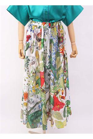 Gonna pantalone in seta e cotone  fiori Laboratorio Capri | 9 | IRIS/AUTOCTONE
