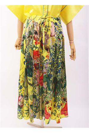 Trouser skirt in pure silk with flowers  Laboratorio Capri | 9 | IRISAUTOCTONE
