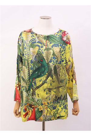 Maxi t-shirt in seta fantasia fiori Laboratorio Capri | 8 | MAXITSAUTOCTONE