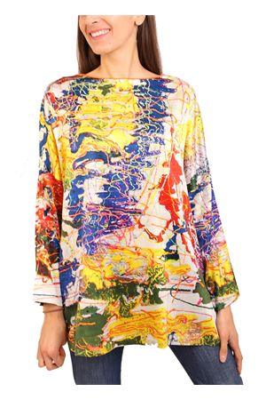 maxi t-shirt in seta multicolor Laboratorio Capri | 8 | MAXITSHIRTARVEDO